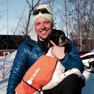 Andreas med Hugge - far till J-kullen med Nora - bärgade ökl-1an igår.
